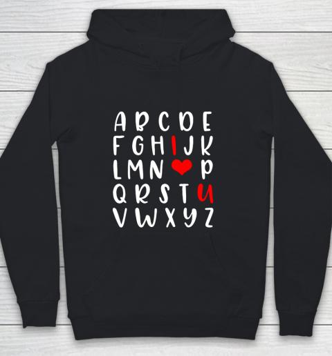Alphabet ABC I Love You Romance Valentine Slogan Youth Hoodie