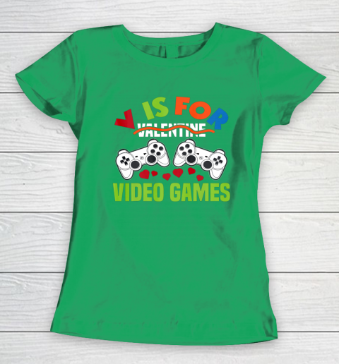 Funny Video Games Lover Valentine Day Women's T-Shirt 5