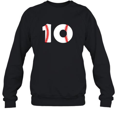 Tenth Birthday 10th BASEBALL Shirt  Number 10 Born In 2009 Sweatshirt