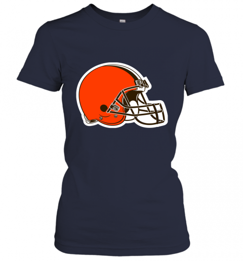 8oqz cleveland browns nfl pro line by fanatics branded brown victory ladies t shirt 20 front navy