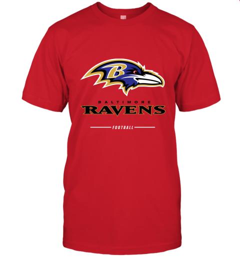 jykt mens baltimore ravens nfl pro line black team lockup t shirt jersey t shirt 60 front red