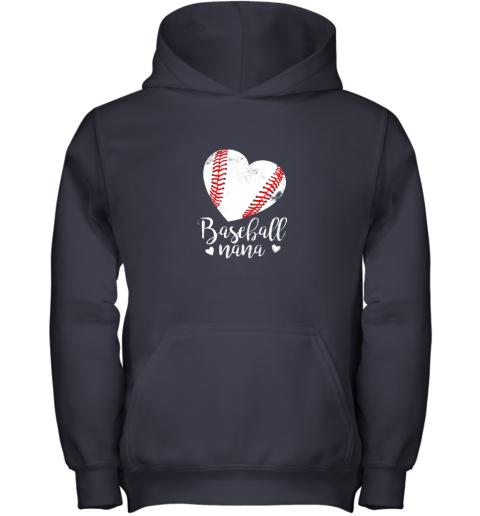 on4n funny baseball nana shirt gift for men women youth hoodie 43 front navy