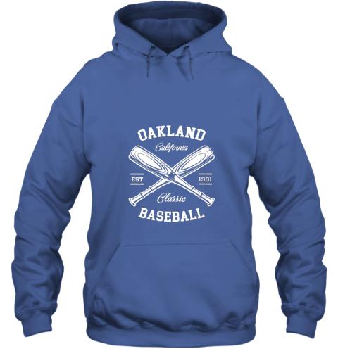 cyzm oakland baseball classic vintage california retro fans gift hoodie 23 front royal