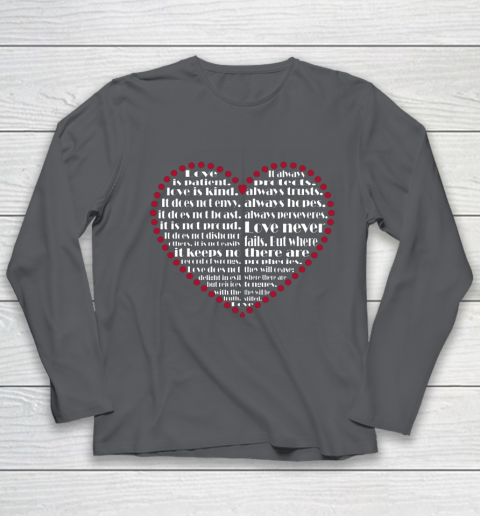 Love is patient love is kind Valentine Hearts Valentines day Youth Long Sleeve 6