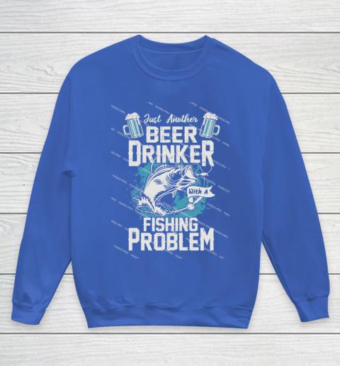 Beer Lover Funny Shirt Fishing ANd Beer Youth Sweatshirt 6
