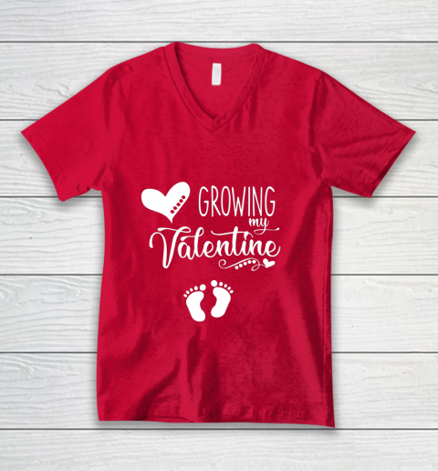 Growing my Valentine Tshirt for Wife V-Neck T-Shirt 6