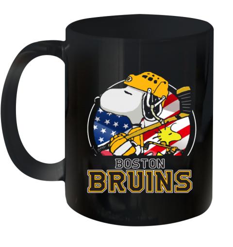 Boston Bruins Ice Hockey Snoopy And Woodstock NHL Ceramic Mug 11oz