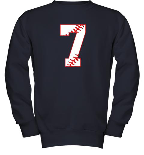 csjj cute seventh birthday party 7th baseball shirt born 2012 youth sweatshirt 47 front navy
