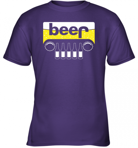 dry5 beer and jeep shirts youth t shirt 26 front purple