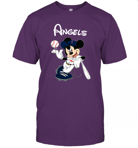 Baseball Mickey Team Los Angeles Angels Unisex Jersey Tee