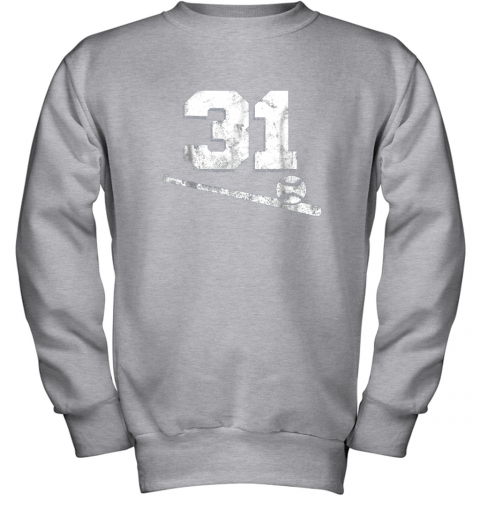 84sk vintage baseball jersey number 31 shirt player number youth sweatshirt 47 front sport grey
