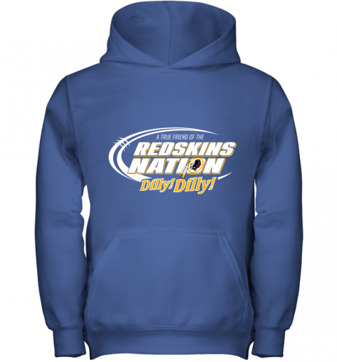 r6yz a true friend of the redskins nation youth hoodie 43 front royal