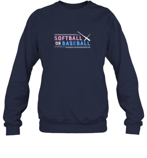 w7zm softball or baseball shirt sports gender reveal sweatshirt 35 front navy