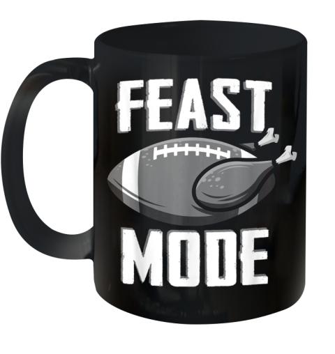 Feast Mode Football Turkey Thanksgiving Soccer Ball Ceramic Mug 11oz