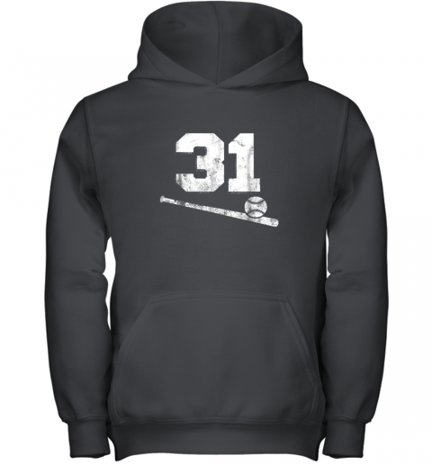 Vintage Baseball Jersey Number 31 Shirt Player Number Youth Hoodie