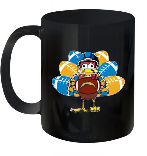 Los Angeles Chargers  Thanksgiving Turkey Football NFL Ceramic Mug 11oz