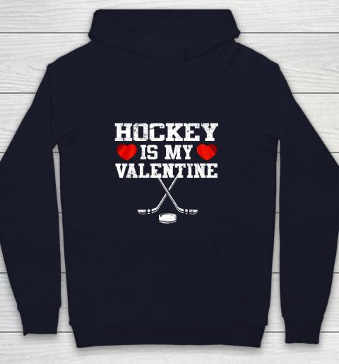 Hockey Is My Valentine Youth Hoodie 2