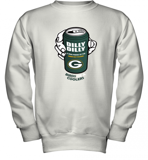 Bud Light Dilly Dilly! Green Bay Packers Birds Of A Cooler Youth Sweatshirt