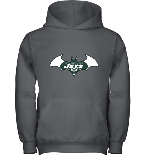 9ugy we are the new york jets batman nfl mashup youth hoodie 43 front charcoal