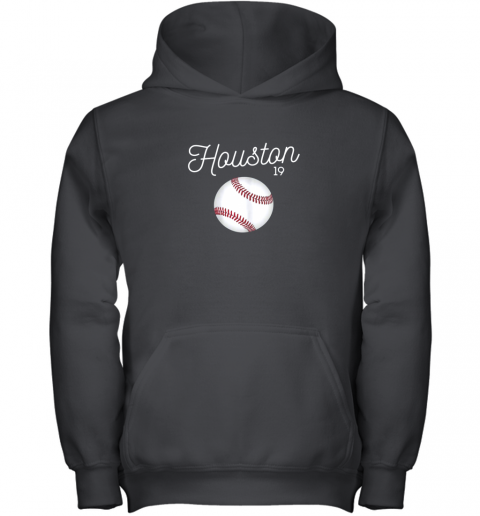 Houston Baseball Shirt Astro Number 19 and Giant Ball Youth Hoodie