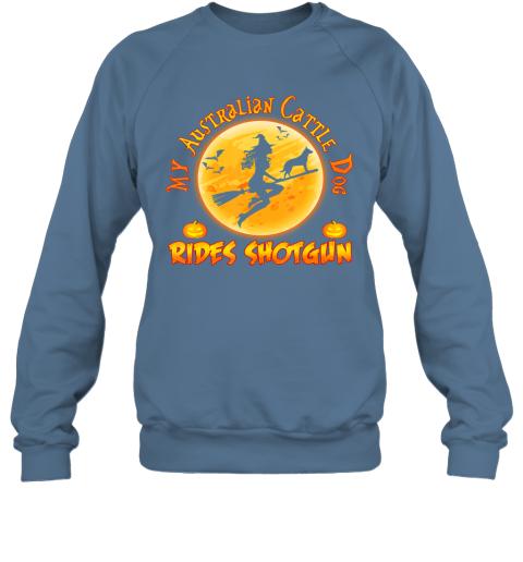 My Australian Cattle Dog Rides Shotgun Halloween Costume Dog Sweatshirt