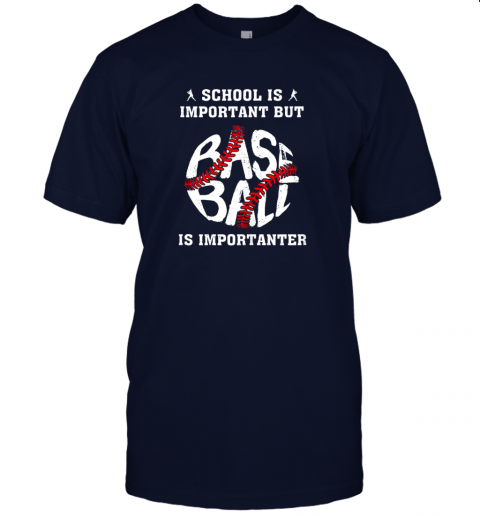 vjdz school is important but baseball is importanter jersey t shirt 60 front navy