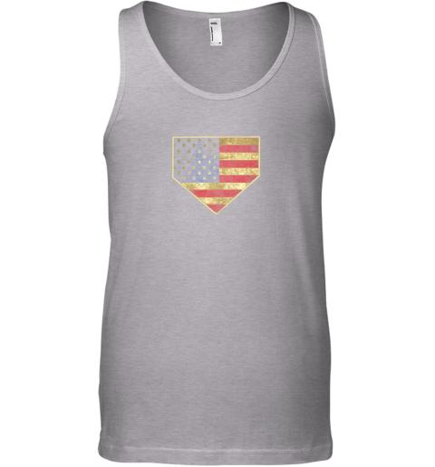 0dou vintage american flag baseball shirt home plate art gift unisex tank 17 front sport grey