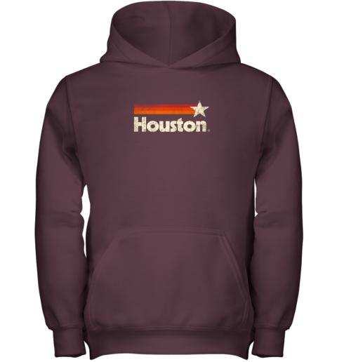 tj6l houston texas shirt houston strong shirt vintage stripes youth hoodie 43 front maroon
