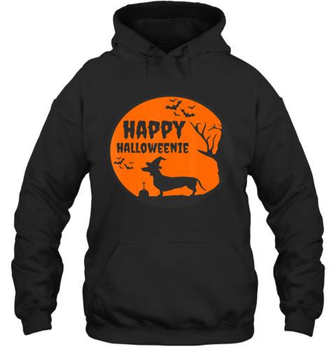 Happy Halloweenie, Halloween Dachshund Dog Shirt Gift Hoodie