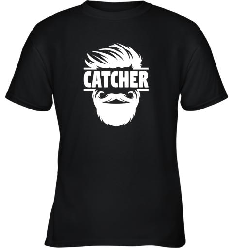 Bearded Baseball Catcher Youth T-Shirt