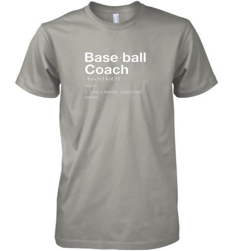 h3mq coach baseball shirt team coaching premium guys tee 5 front light grey