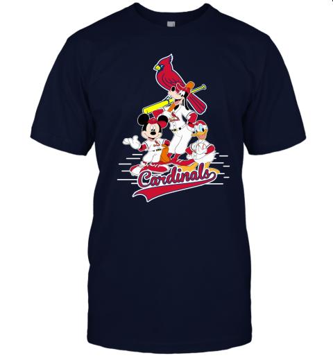 7wpr st louis cardinals mickey donald and goofy baseball jersey t shirt 60 front navy
