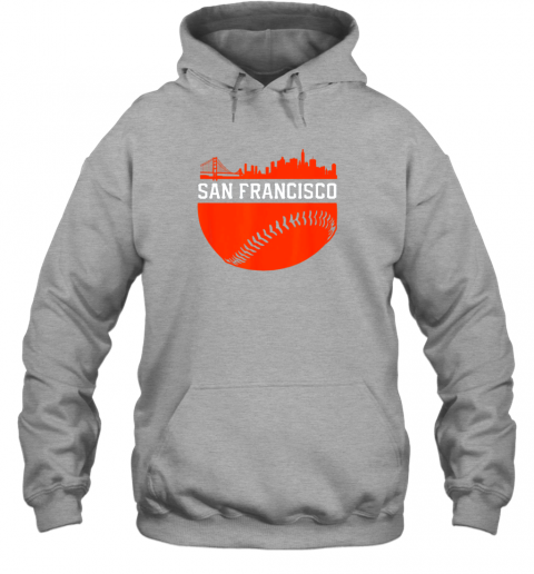 hpf3 san francisco baseball vintage sf the city skyline gift hoodie 23 front sport grey