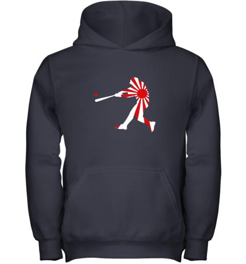 4xnq japan baseball shirt jpn batter classic nippon flag jersey youth hoodie 43 front navy