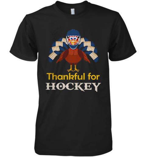 Thankful For Hockey Turkey Premium Men's T-Shirt
