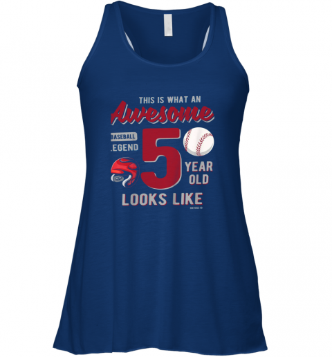 ps80 kids 5th birthday gift awesome 5 year old baseball legend flowy tank 32 front true royal