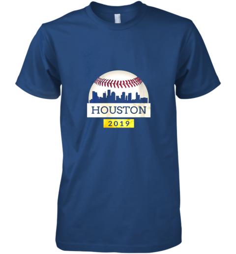 y1xb houston baseball shirt 2019 astro skyline on giant ball premium guys tee 5 front royal