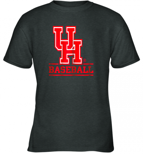 9pbz university of houston cougars baseball shirt youth t shirt 26 front dark heather