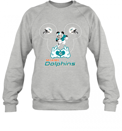 uqpy i love the dolphins mickey mouse miami dolphins sweatshirt 35 front sport grey
