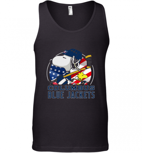 Columbus Blue Jackets  Snoopy And Woodstock NHL Tank Top