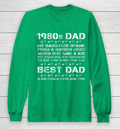 Funny 1980s Dad Girl Dad And Daughter Father's Day Long Sleeve T-Shirt 4