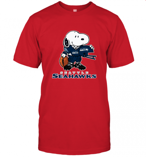 Snoopy A Strong And Proud Seattle Seahawks Player NFL Unisex Jersey Tee