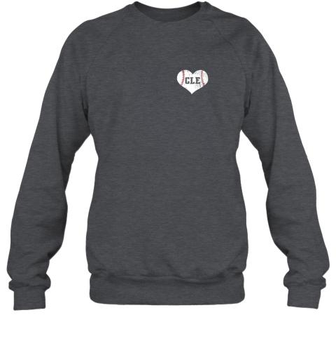 l9mw vintage cleveland baseball sweatshirt ohio cle sweatshirt 35 front dark heather