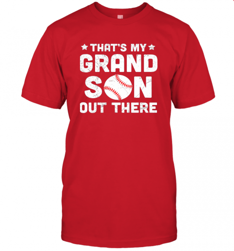 wclz grandma that39 s my grandson out there baseball jersey t shirt 60 front red