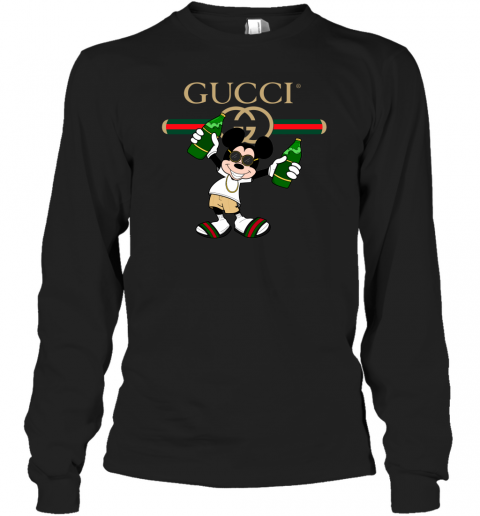 Gucci Mickey Mouse Beer Adult Long Sleeve T-Shirt
