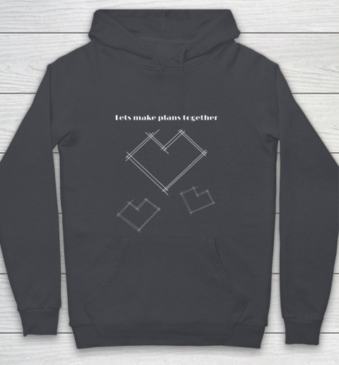 Valentine Architect T Shirt Heart Architecture Student Youth Hoodie 5