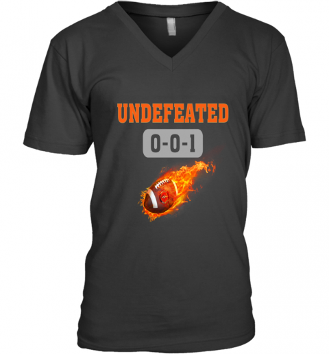 NFL DENVER BRONCOS LOGO Undefeated V-Neck T-Shirt