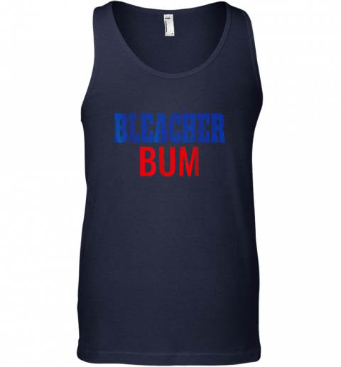 r7el bleacher bum original chicago baseball distressed unisex tank 17 front navy