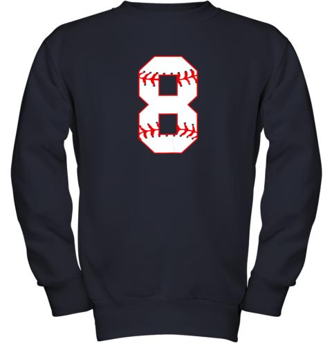 su2u cute eighth birthday party 8th baseball shirt born 2011 youth sweatshirt 47 front navy