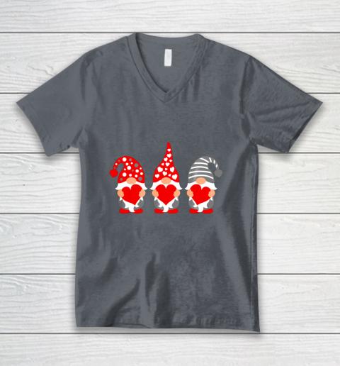 Gnomes Hearts Valentine Day Shirts For Couple V-Neck T-Shirt 4